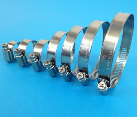 Assorted Sizes of Hose Cl&s That are 100% Titanium : 3 hose clamps - www.happyfamilyinstitute.com